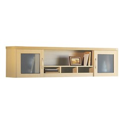 Aberdeen Series Wall Mount Hutch - Maple