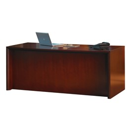 Corsica Series Bow Front Desk - Sierra Cherry
