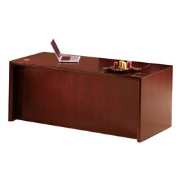 Corsica Series Straight Front Desk - Sierra Cherry