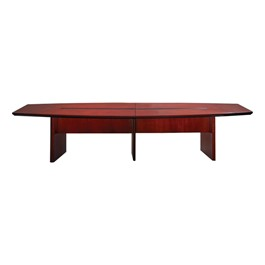 "Corsica Series Boat-Shaped Conference Table (144"" W x 54\"" L)<br>Shown in sierra cherry"