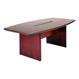 Corsica Series Boat-Shaped Conference Table - Sierra Cherry