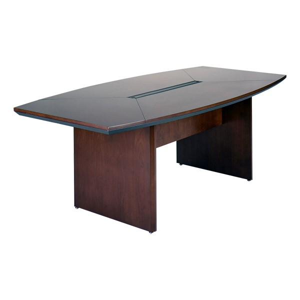 Corsica Series Boat-Shaped Conference Table - Mahogany