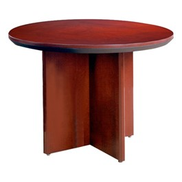 Corsica Series Round Conference Table - Sierra Cherry
