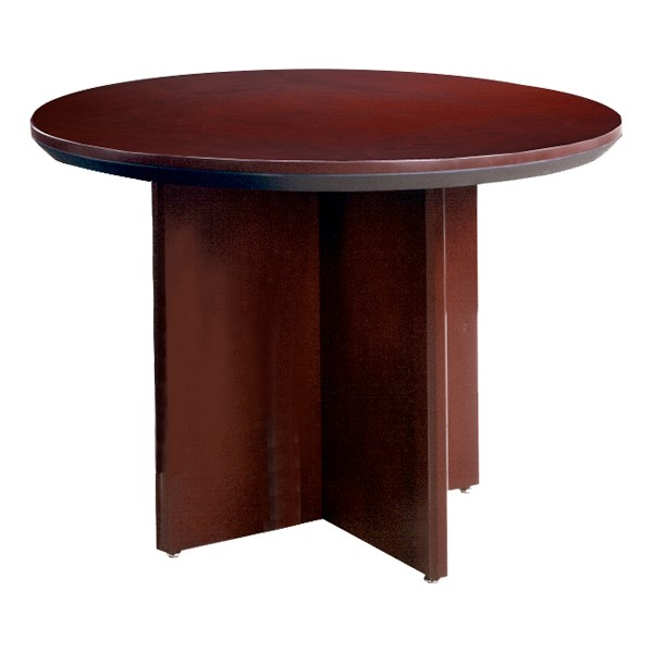 Corsica Series Round Conference Table - Mahogany
