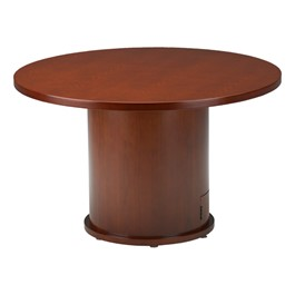 Mira Series Round Conference Table - Cherry
