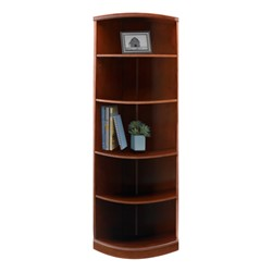 Sorrento Series Bookcase – Quarter-Round Bookcase, Bourbon Cherry