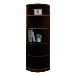 Sorrento Series Bookcase – Quarter-Round Bookcase, Espresso