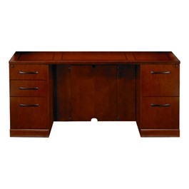 Sorrento Series Double-Pedestal Straight Front Desk