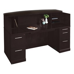 Sorrento Series Reception Desk - Shown w/ Veneer Counter