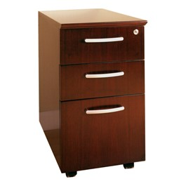 Corsica Series Mobile Pedestal – Three Drawers, Sierra Cherry