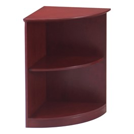 Corsica Series Bookcase – Quarter-Round – Two Shelves, Sierra Cherry