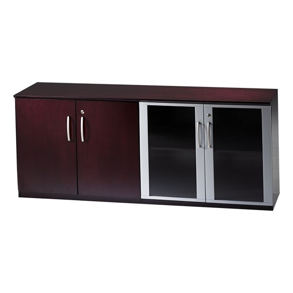Corsica Series Low Wall Cabinet w/ Doors – All Wood, Mahogany