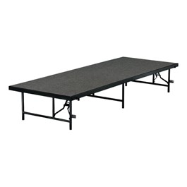 "TransFold Fixed Platform Stage & Seated Riser Section w/ Carpet Deck (4\' L x 4\' D x 8"" H)"