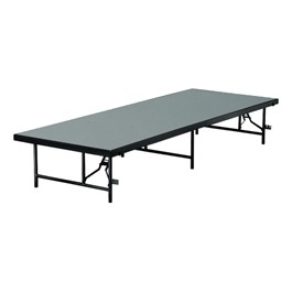 "TransFold Fixed Platform Stage & Seated Riser Section w/ Polypropylene Deck (8\' L x 4\' D x 16"" H)"