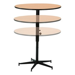 Adjustable-Height Round Banquet Table - Shown w/ Laminate Top