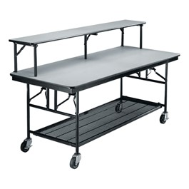 Double-Tier Mobile Buffet Table - Shown w/ Laminate Top