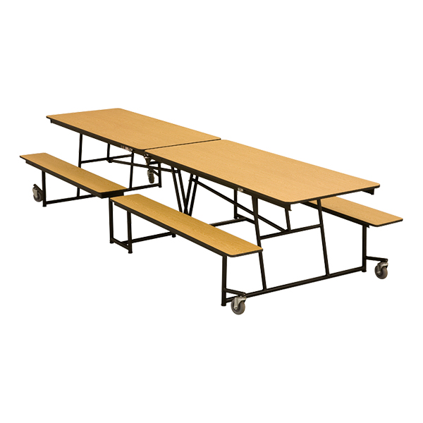 Midwest Folding Cafeteria Mobile Bench Table