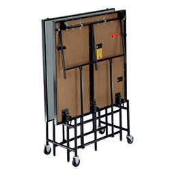 Mobile Stage Section w/ Polypropylene Deck - Shown folded