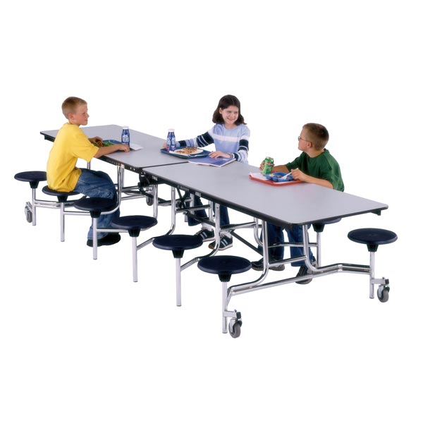 Midwest Folding Cafeteria Mobile Stool Cafeteria Table