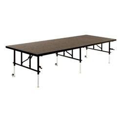 TransFold Adjustable Platform Rectangle Portable Stage & Seated Riser Section - Carpet Deck