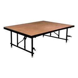 TransFold Adjustable Platform Square Portable Stage & Seated Riser Section - Hardboard Deck