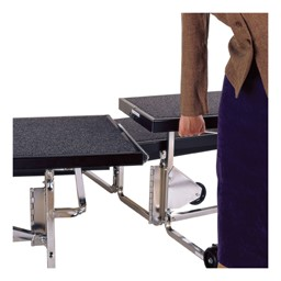 TransFold Choral Risers - Setup/breakdown shown - Linking risers