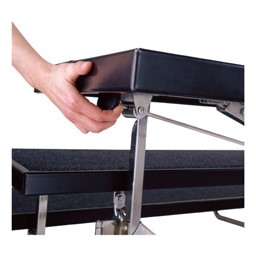 TransFold Choral Risers - Setup/breakdown shown - Using the gas-spring cylinder