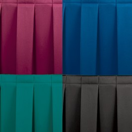 TransFold Box Pleat Stage Skirting - Burgundy, Navy, Jade Green, Black