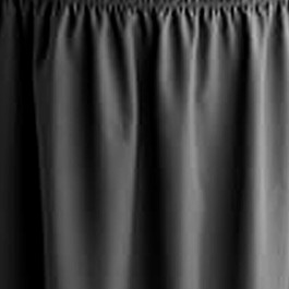 TransFold Shirred Pleat Stage Skirting - Black