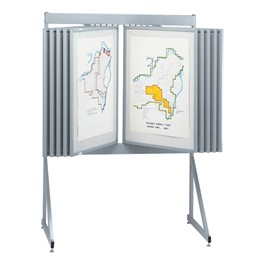 System 8000 Swinging Panel Floor Display w/ White Mat Board