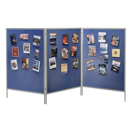 Display & Exhibit System w/ Blue Fabric Panels