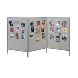 Display & Exhibit System - Shown w/ Gray Vinyl Panels