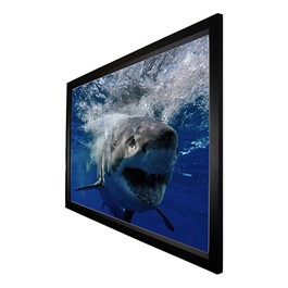 Fixed-Frame Widescreen Cinema Projection Screen