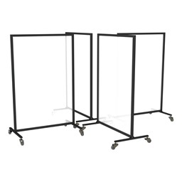 Acrylic Panel Room Divider System - Four Panels