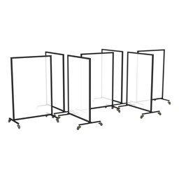 Acrylic Panel Room Divider System - Six Panels