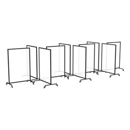 Eight Panel Station Acrylic Divider System