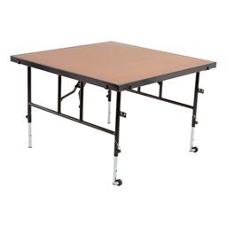 Adjustable-Height Portable Stage w/ Hardboard Deck For Sale