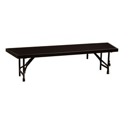 "Tapered Standing Choral Riser Section w/ Carpet Deck (66"" L x 18"" D x 16"" H)"