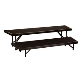 """Tapered Standing Choral Risers w/ Carpet Deck - Two Level (16\"""" H)"""