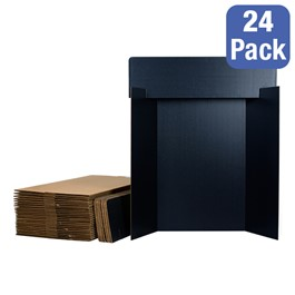 Black Corrugated Project Boards w/ Headers - Pack of 24