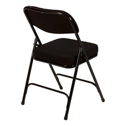 """Folding Chair w/ 2"""" Fabric Upholstered Seat - Back view"""