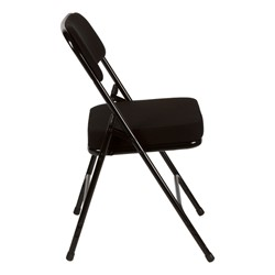 """Folding Chair w/ 2"""" Fabric Upholstered Seat - Side view"""