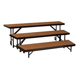 """Tapered Standing Choral Risers w/ Hardboard Deck - Three Level (24"""" H)"""