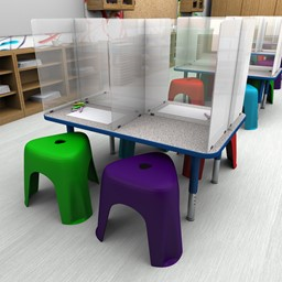 Tabletop H-Shape Divider - 4 Seats