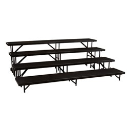 """Straight Standing Choral Risers w/ Carpet Deck - Four Level (32"""" H)"""
