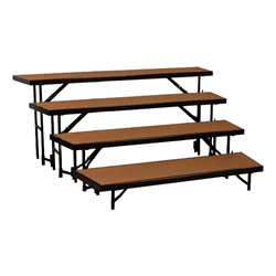 """Tapered Standing Choral Risers w/ Hardboard Deck - Four Level (32"""" H)"""