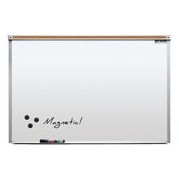 Heavy-Duty Porcelain Steel Magnetic Dry Erase Board w/ Aluminum Frame & Maprail (3' W x 2' H)