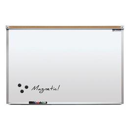 Heavy-Duty Porcelain Steel Magnetic Dry Erase Board w/ Aluminum Frame & Maprail