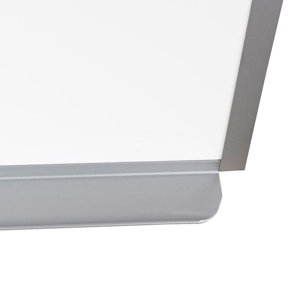 Heavy-Duty Porcelain Steel Magnetic Dry Erase Board w/ Aluminum Frame & Maprail (12' W x 4' H)