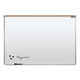 Heavy-Duty Porcelain Steel Magnetic Dry Erase Board w/ Aluminum Frame & Maprail (4\' W x 3\' H)